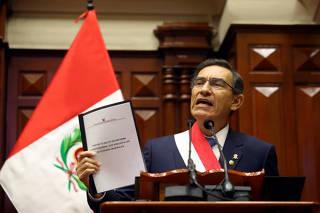 PERU-LIMA-VIZCARRA-ADELANTO DE ELECCIONES