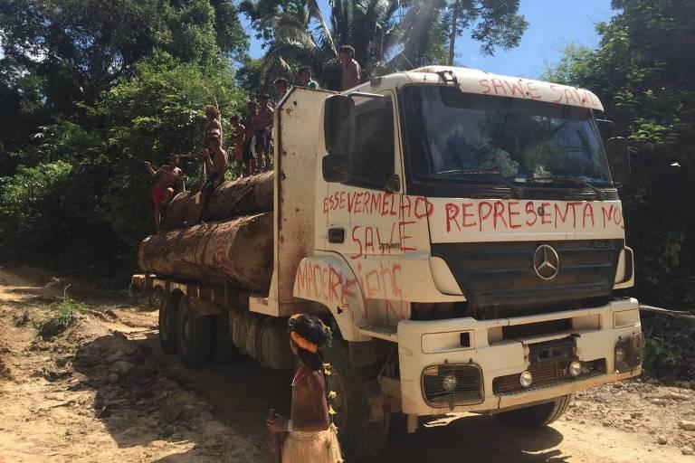 Sem apoio federal, índios mundurucus expulsam madeireiros ilegais no Pará