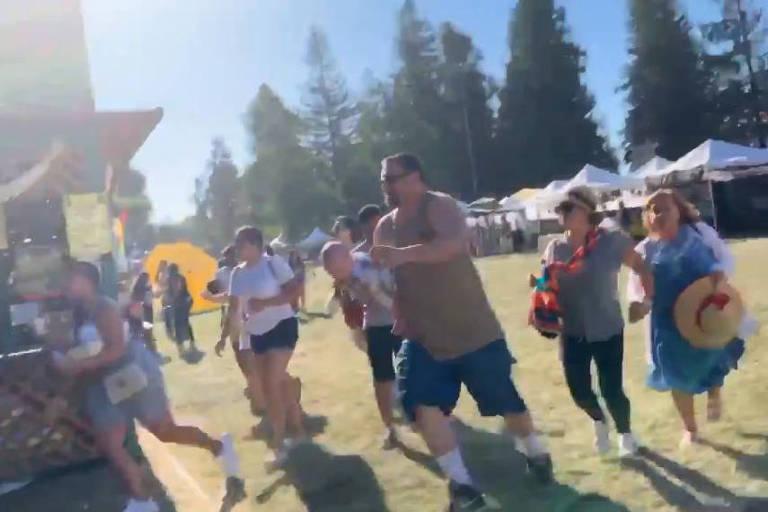 Pessoas correm de tiros no Gilroy Garlic Festival
