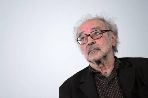 Cinema: o cineasta Jean-Luc Godard durante debate sobre seu filme