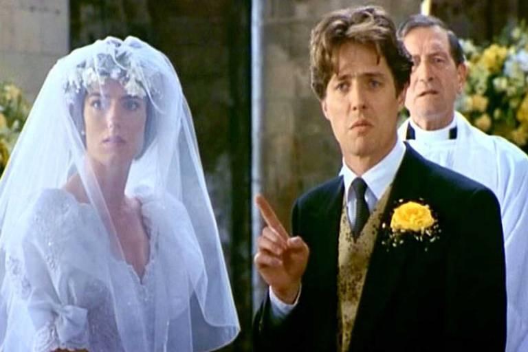 """Cena do filme """"Quatro Casamentos e Um Funeral"""""""