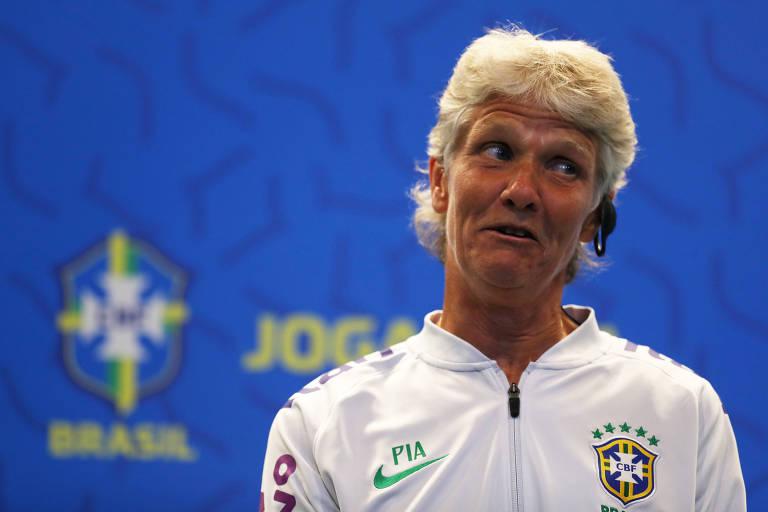 Pia Sundhage foi apresentada nesta terça-feira (30), na sede da CBF, no Rio de Janeiro
