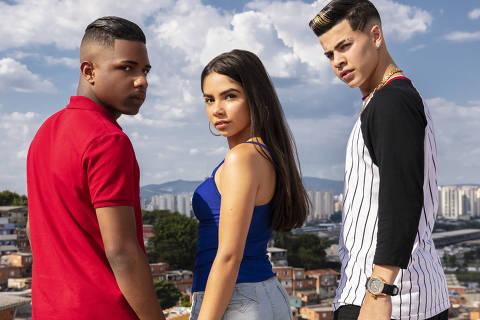 Os protagonistas de 'Sintonia', série da Netflix com Kondzilla