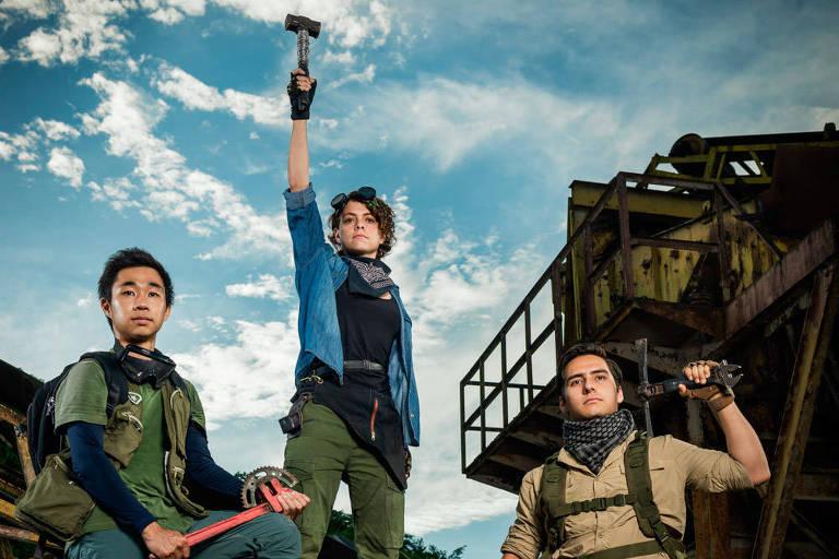 Três rapazes em Desafio Impossível