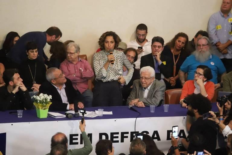 Camila Pitanga discursa na ABI