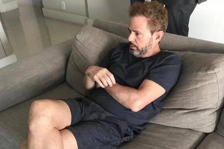 O doleiro Dario Messer, ao ser preso em São Paulo nesta quarta-feira (31/7)