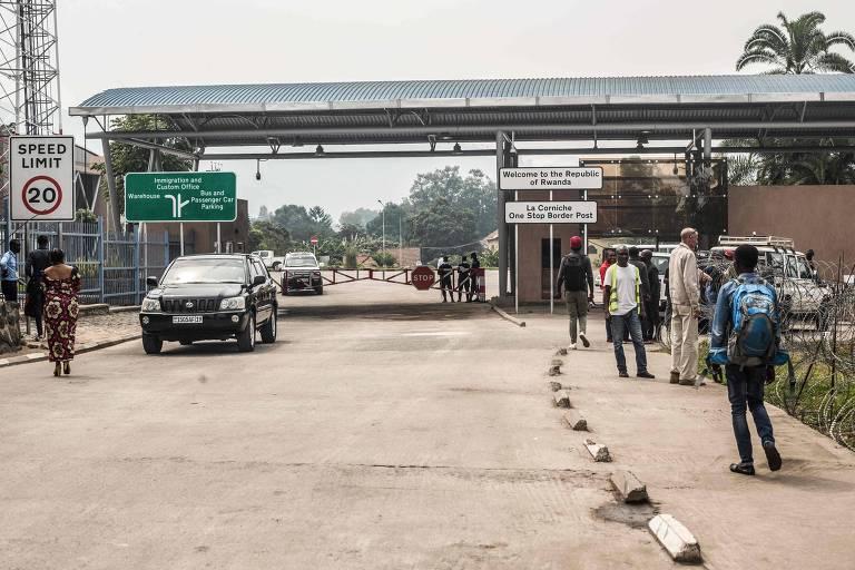Área na cidade de Goma, na fronteira entre a República Democrática do Congo e Ruanda