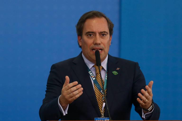 Presidente da Caixa, Pedro Guimarães, durante anúncio das novas regras do FGTS e do PIS/Pasep, no dia 24 de julho