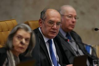 Ministros do Supremo Tribunal Federal durante a votação