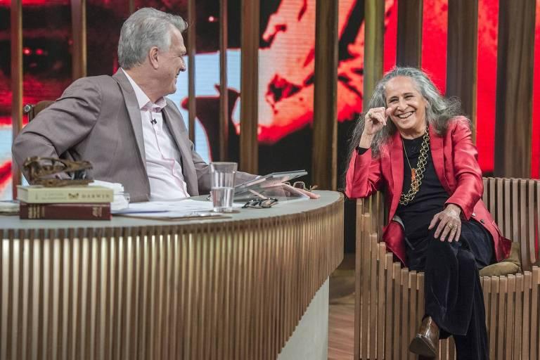 Maria Bethânia conversa com Pedro Bial