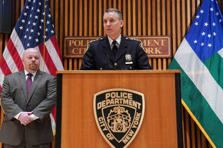 Dermot Shea, the city's chief of detectives, speaks during a news conference in New York, March 16, 2019. (Chang W. Lee/The New York Times)