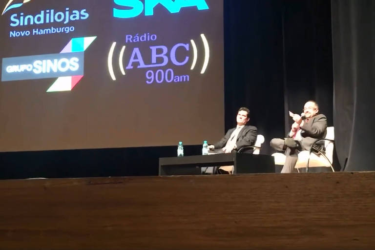 O então juiz Sergio Moro em palestra em Novo Hamburgo (RS) em setembro de 2016