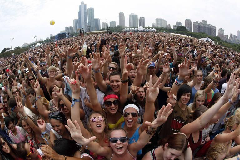 Imagem do festival Lollapalooza 2013 em Chicago