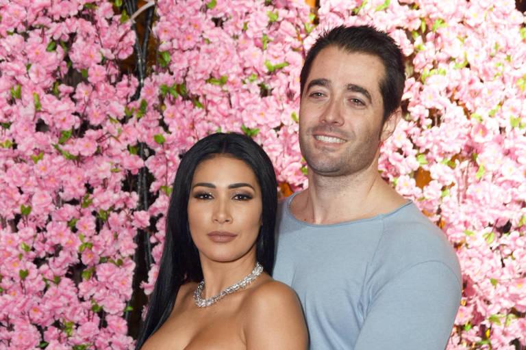 Simaria ao lado do marido, Vicente Escrig
