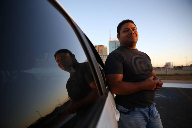 Argenis Mata é motorista de Uber em Brasilia