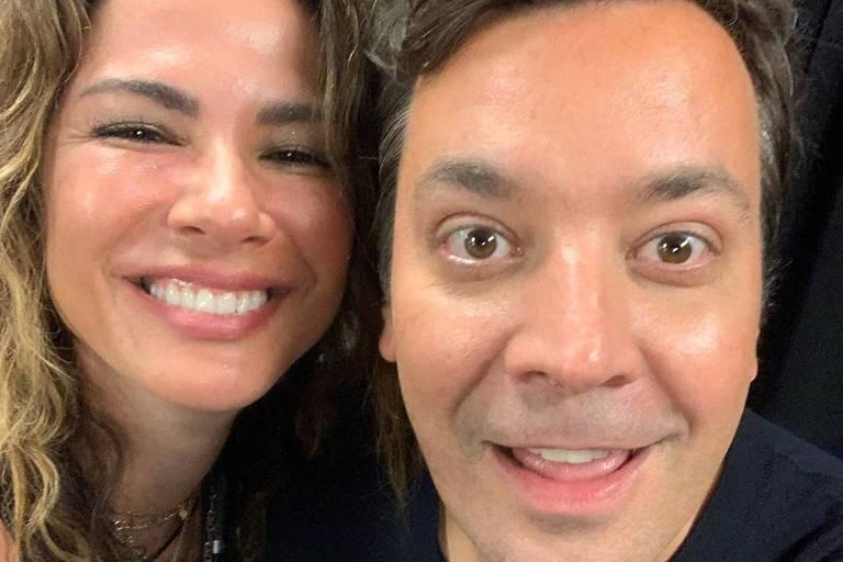 Luciana Gimenez e Jimmy Fallon