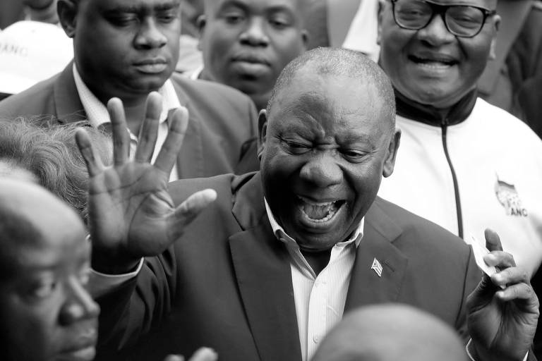 O presidente da África do Sul, Cyril Ramaphosa