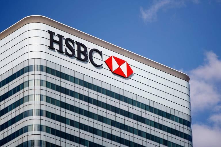 Sede do HSBC em Canary Wharf, distrito financeiro de Londres, no Reino Unido
