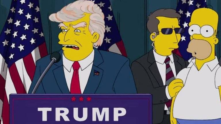 Trump apareceu como presidente dos EUA na série em 2000