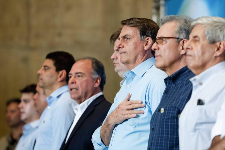 Presidente Jair Bolsonaro (PSL) durante inauguração de usina em Sobradinho (BA)