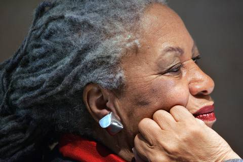 (FILES) In this file photo taken on November 8, 2006 US novellist Toni Morrison attends a press conference at the Louvre museum in Paris. - Toni Morrison, the first African American woman to win the Nobel Prize for Literature, has died following a short illness, her family said in a statement on August 6, 2019. She was 88.