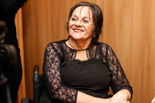 Maria da Penha no coquetel do 21º Prêmio Claudia 2016
