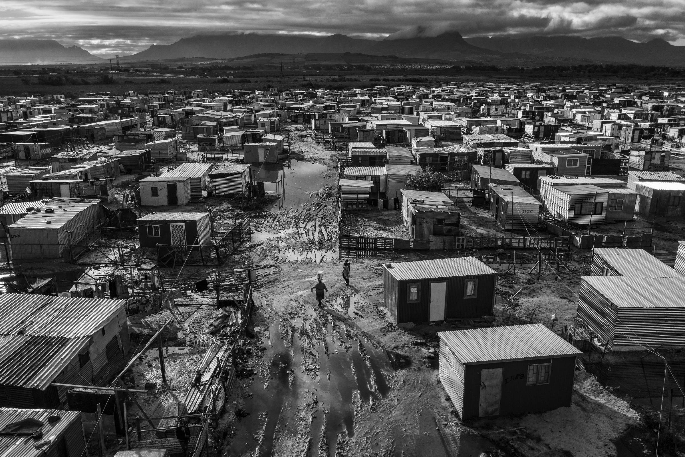 Khayelitsha township in Cape Town, where blacks were sent during apartheid