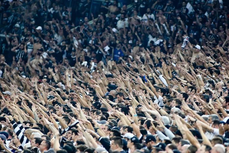 Torcida do Corinthians partida pela Copa do Brasil 2018, realizada na Arena Corinthians