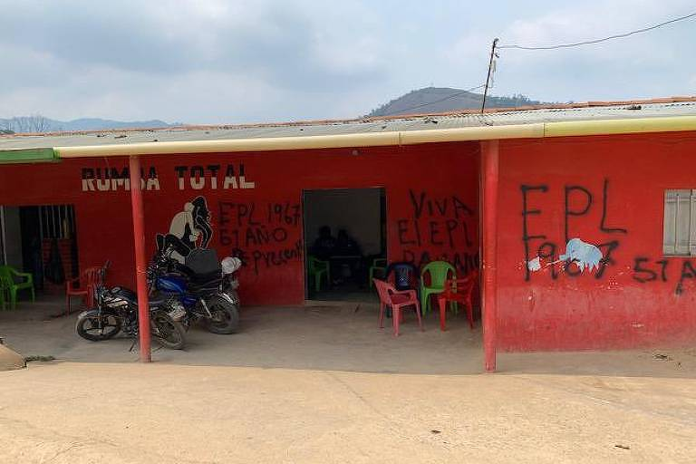Graffiti on the wall of a brothel in Convención in the Catatumbo region, where most women working were Venezuelan exiles. The EPL (Popular Liberation Army) is one of the armed groups operating in the area. © 2019 Human Rights Watch