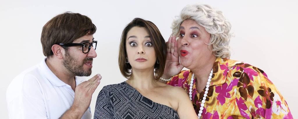 Catia Fonseca se une a humorista Diego Becker e a Tia (Guilherme Uzeda) em stand up