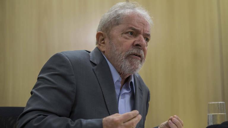 O ex-presidente Lula concede entrevista exclusiva à Folha e ao jornal El País, em Curitiba