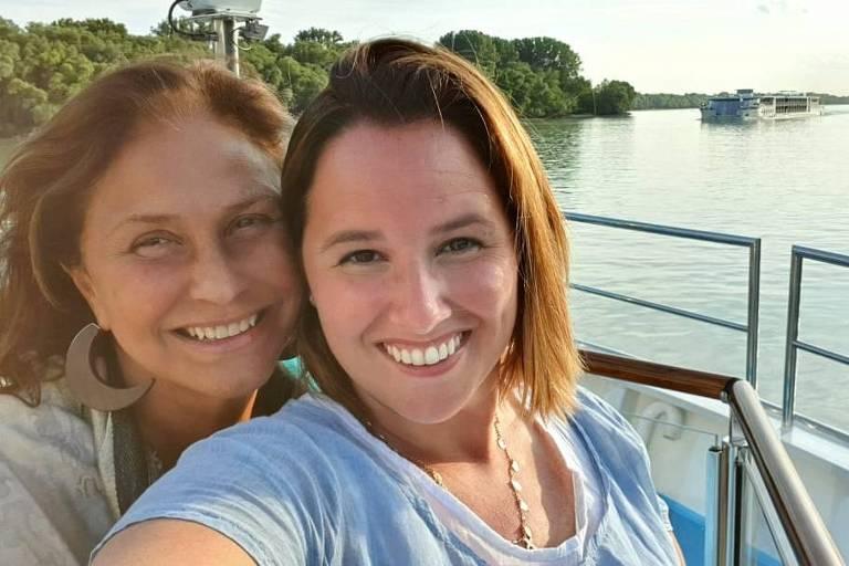 Fafá de Belém e a filha Mariana à bordo de cruzeiro pela Europa