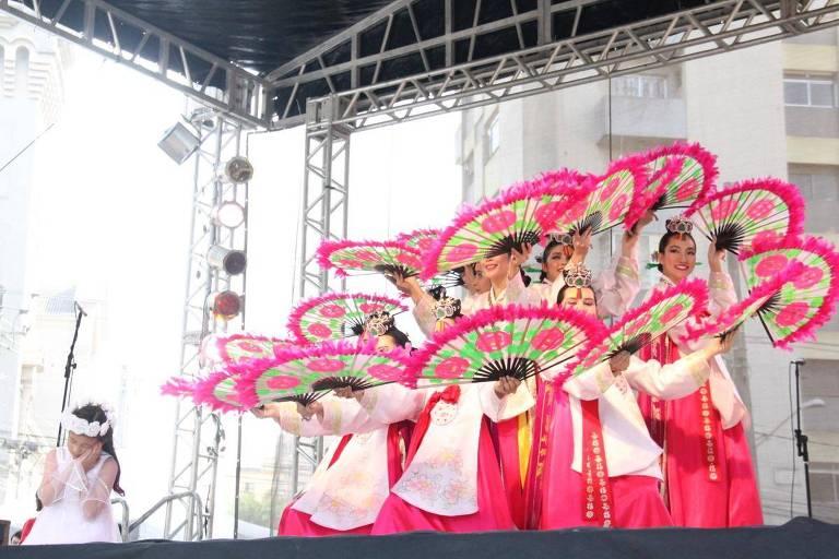 Apresentação de dança realizada na última  edição do festival