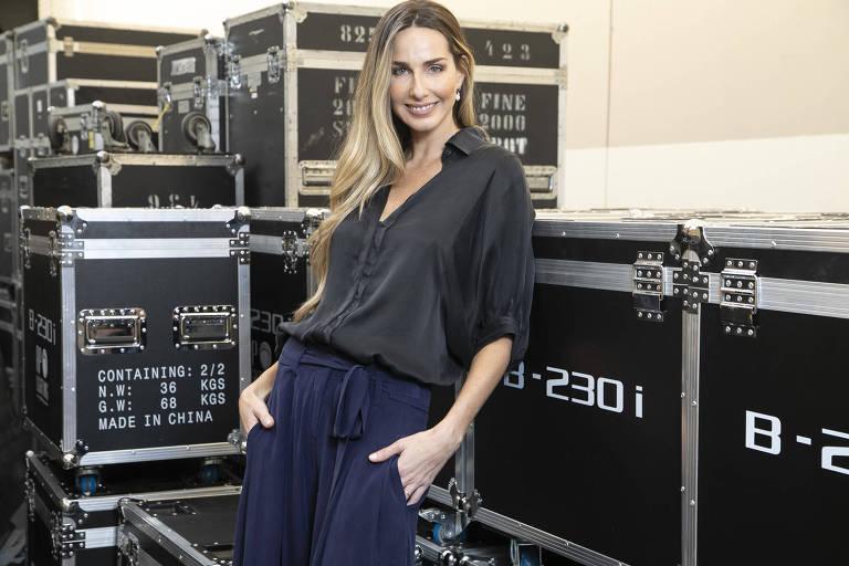 A repórter e ex-modelo Mariana Weickert, 37