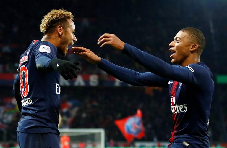 Com Neymar e Mbappe, o PSG conquistou a última temporada do Campeonato Francês
