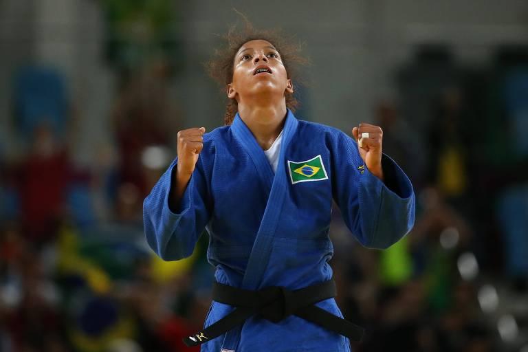 A judoca carioca Rafaela Silva foi campeã olímpica na Rio-2016