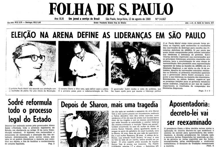 1969: Em eleição na Arena, Paulo Maluf surge como grande força política
