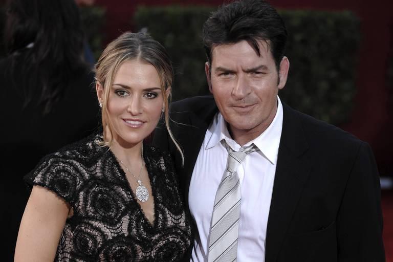 Charlie Sheen e sua ex-mulher Brooke Mueller