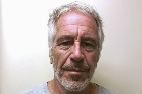 FILE PHOTO: U.S. financier Jeffrey Epstein appears in a photograph taken for the New York State Division of Criminal Justice Services' sex offender registry March 28, 2017 and obtained by Reuters July 10, 2019.  New York State Division of Criminal Justice Services/Handout/File Photo via REUTERS. THIS IMAGE HAS BEEN SUPPLIED BY A THIRD PARTY. THIS IMAGE WAS PROCESSED BY REUTERS TO ENHANCE QUALITY, AN UNPROCESSED VERSION HAS BEEN PROVIDED SEPARATELY. ORG XMIT: TOR503