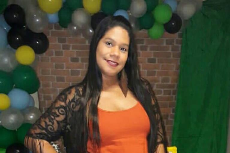 Joana Silva, eletrocutada na madrugada deste sábado, durante tiroteio em baile funk