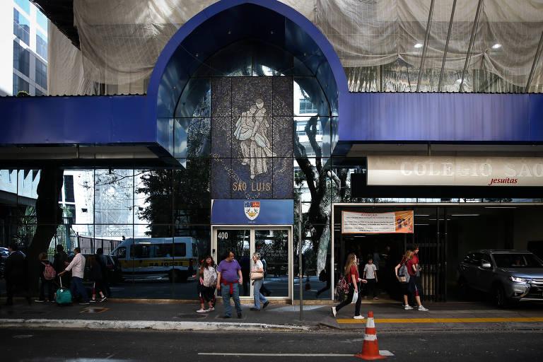 A sede centenária do São Luís, na r. Haddock Lobo com a av. Paulista; em 2020 colégio terá novo endereço