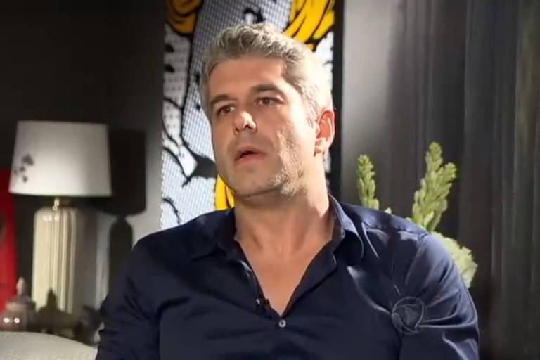 Gustavo Corrêa, cunhado de Ana Hickmann, em entrevista para a Record em 2016