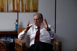 O senador Tasso Jereissati (PSDB-CE), relator da reforma da Previdência no Senado