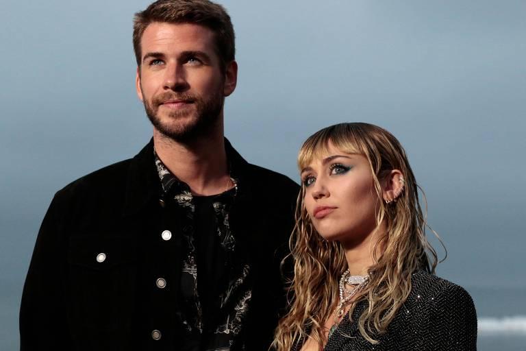 Miley Cyrus e o ex-marido Liam Hemsworth