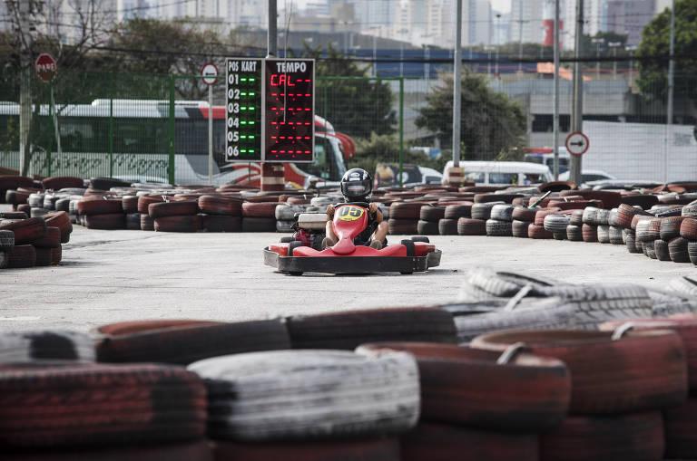 Correr de Kart exige cuidados