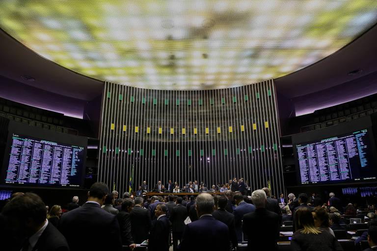 Plenário da Câmara, que aprovou na quarta (14) projeto que pune abuso de autoridade