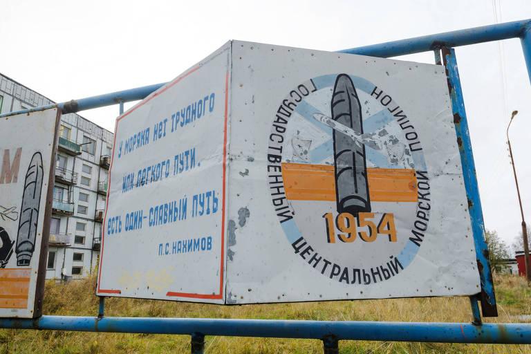 O campo de testes de Nyonoksa remonta aos tempos soviéticos