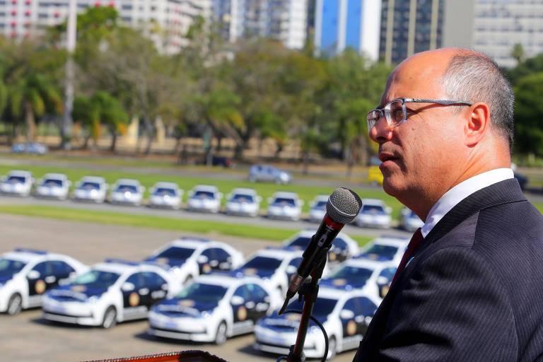 O governador do Rio, Wilson Witzel, participa de cerimônia de entrega de viaturas