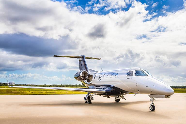 Jato Embraer Phenom, semelhante ao utilizado por Luciano Huck