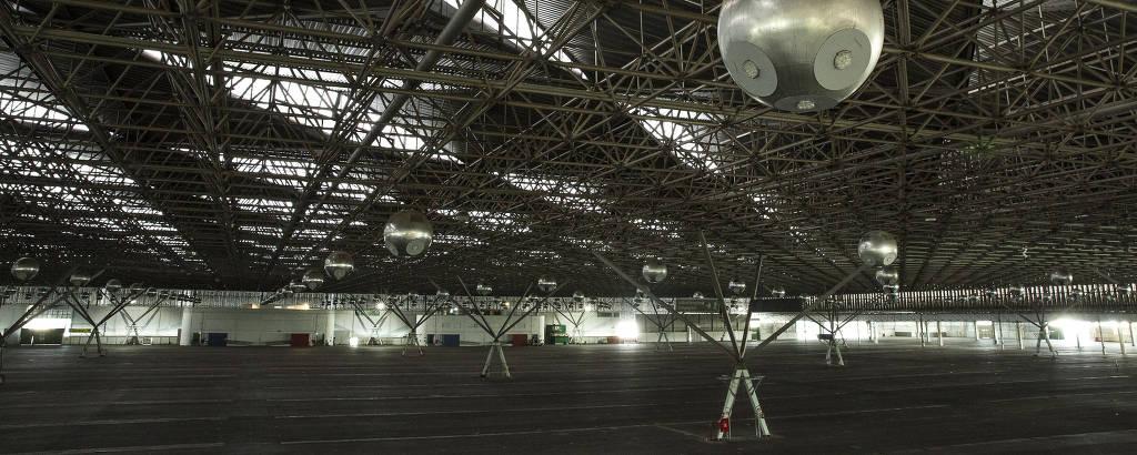 A icônica cobertura do Pavilhão de Exposições do Anhembi, na zona norte de SP